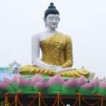 A Buddha statue at the Bangla Desh monastery in Bodh Gaya,  India