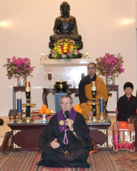 Our Sensei, Morris Sekiyo Sullivan, gives his first talk after his dharma transmission at White Sands Buddhist Center.
